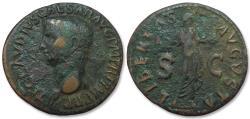 Ancient Coins - AE as Claudius, Rome 50-54 A.D. -- LIBERTAS AVGVSTA --