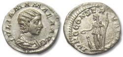 Ancient Coins - AR denarius Julia Mamaea, Rome 222-235 A.D.