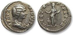 Ancient Coins - AR denarius Julia Domna, Rome 196-211 A.D. -- PIETAS PVBLICA --