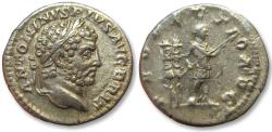 Ancient Coins - AR denarius Caracalla, Rome mint AD 213 - PROFECTIO AVG - may refer to his departure for his Parthian campaign - beauty