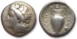 Ancient Coins - AR hemidrachm Thessaly, Lamia 400-350 B.C.