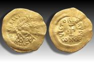 AV gold tremissis Heraclius, Constantinople mint 613-641 A.D. - large flan -