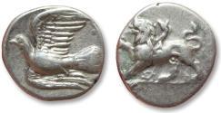 Ancient Coins - AR triobol or hemidrachm Sikyonia, Sikyon 330-280 B.C.
