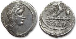 Ancient Coins - AR Denarius, Q. Cassius Longinus, Rome 55 B.C.