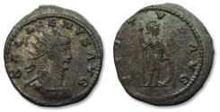 Ancient Coins - Billon or Silvered AE antoninianus Gallienus, Antioch mint AD 266-267 - in near mint state - VIRTVS AVG
