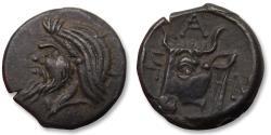 Ancient Coins - TAURIC CHERSONESOS, 17mm AE unit. PANTIKAPEION mint circa 325-310 B.C. - quality coin -