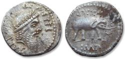 Ancient Coins - AR denarius Q. Caecilius Metellus Pius Scipio, military mint in Africa, 47-46 B.C.