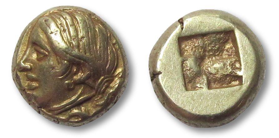 Ancient Coins - EL Hekte, Ionia, Phokaia 387-326 B.C.