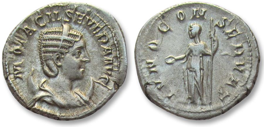 Ancient Coins - AR Antoninianus, Otacilla / Otacilia Severa, Rome 244-249 A.D. - IVNO CONSERVAT -