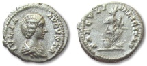 Ancient Coins - HS: AR denarius Julia Domna, Rome 196-211 A.D. --SAECVULI FELICITAS--