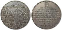 World Coins - 52mm silver medal 1594: siege & capture of Groningen -- superb quality medal --