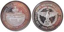 World Coins - Large silver medal comm. Erwin Rommel & Afrika Korps and battle for N.Africa WW2