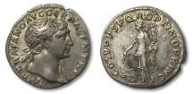 Ancient Coins - AR denarius Trajan / Trajanus, Rome 103-111 A.D. --FORTUNA left--