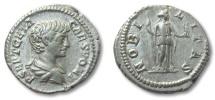 Ancient Coins - HS: AR denarius Geta as Caesar, Rome 200-204 A.D. --NOBILITAS--