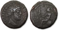 Ancient Coins - BI billon tetradrachm emperor Commodus - scarce coin - Egypt, Alexandria mint dated RY 32 = 191-192 A.D.