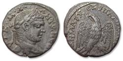 Ancient Coins - AR Tetradrachm, Caracalla, Laodicea ad Mare mint 215-217 A.D. - star between legs of eagle -