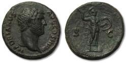 Ancient Coins - AE As Hadrian, Rome 134-138 A.D. -- MINERVA walking right--