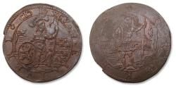 World Coins - Spanish Netherlands AE jeton Dordrecht mint 1595: on the battle of Bislich and the death of Count Philipp Nassau