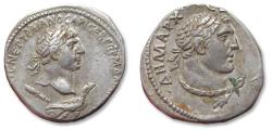Ancient Coins - Large 24 mm AR tetradrachm Trajan / Trajanus. PHOENICIA, Tyre 116 A.D. - rare coin in great condition -
