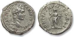 Ancient Coins - AR denarius Geta as Augustus, Rome 210 A.D. - Felicitas standing left -