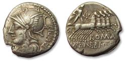 Ancient Coins - AR Denarius, M. Baebius Q. f. Tampilus. Rome, 137 B.C. - from an old Dutch collection -