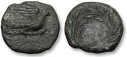 Ancient Coins - AE chalkous Sikyonia, Sikyon 250-200 B.C. -- Ex CNG and Ex BCD collection --