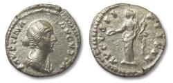 Ancient Coins - AR denarius Faustina Junior, Concordia standing left, Rome 157-161 A.D.