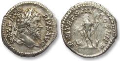 Ancient Coins - AR denarius Septimus / Septimius Severus, Rome 205 A.D. -- P M TR P XIII COS III P P --