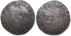 World Coins - Spanish Netherlands AR jeton Dordrecht mint 1573: The Departure of the Duke of Alba from the Netherlands