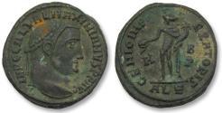 Ancient Coins - AE 24mm follis Galerius Valerius Maximianus, Alexandria mint 305-311 A.D.