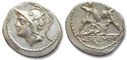 Ancient Coins - AR denarius Q. Minucius Thermus, Rome 103 B.C.