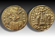 Ancient Coins - AV gold solidus Constantinus IV / Constantine IV Pogonatus (The Bearded). Constantinople mint 674-681 A.D.