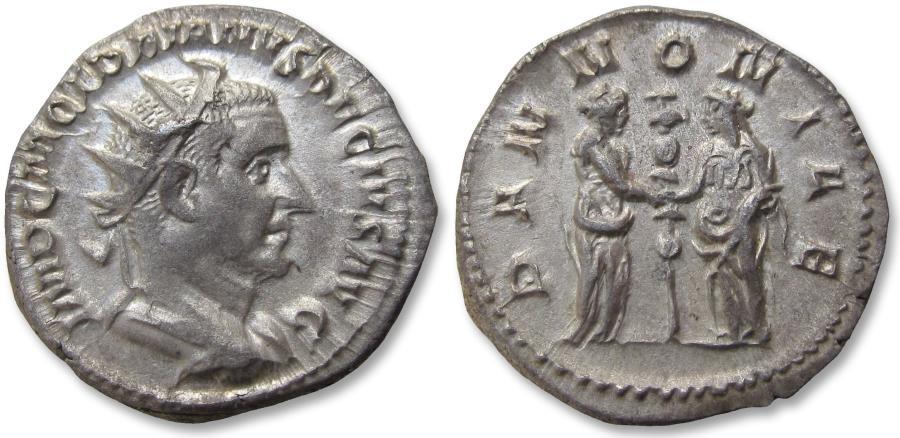 Ancient Coins - AR antoninianus Trajan Decius. Rome mint 250-251 A.D. - PANNONIAE, near mint state -