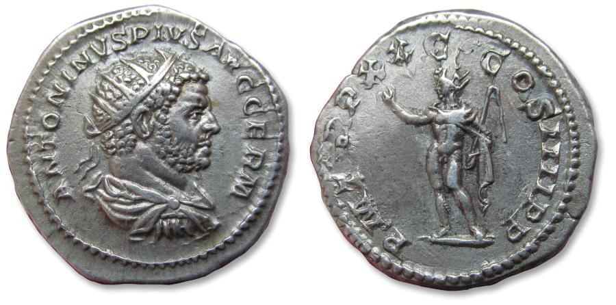 Ancient Coins - AR antoninianus Caracalla, Rome mint 217 A.D. - struck in his last year as emperor