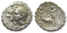 AR denarius C. Sulpicius C.f., Rome 106 B.C.