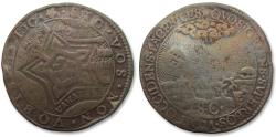World Coins - Spanish Netherlands AE jeton 1600: on the capture of the Spanish fort St.Andries, located between the rivers Meuse & Waal, by the Dutch
