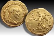 AV gold aureus Trajan Decius, Rome mint 249-251 A.D. - VICTORIA AVG reverse -