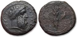 Ancient Coins - Sicily, Syracuse. AE 25mm hemidrachm - struck under Timoleon - circa 344-317 B.C. - struck during the Time of the Third Democracy -