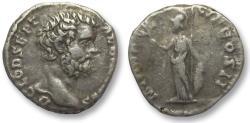 Ancient Coins - AR denarius Clodius Albinus as Caesar, Rome 194-195 A.D. - MINER PACIF COS II -