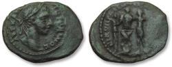 Ancient Coins - Moesia Inferior, Nikopolis ad Istrum. AE 20 (assarion) Elagabalus, 218-222 A.D. - very rare cointype