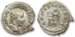 Ancient Coins - AR antoninianus Gordian / Gordianus III, Rome 239 A.D. -- ROMA AETERNAE, sharply struck --