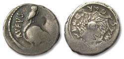 Ancient Coins - AR denarius Mn. Cordius Rufus, Rome 46 B.C.