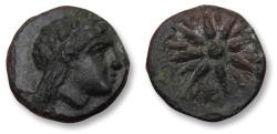 Ancient Coins - MYSIA, 10mm AE unit. GAMBRION mint circa 350 B.C. - very rare coin, Ex Peus (with ticket) -
