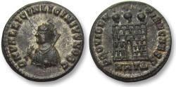 Ancient Coins - AE silvered follis Licinius II as Caesar, Heraclea 316-317 A.D. -- near mint state, beauty --