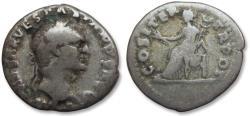 Ancient Coins - AR denarius Vespasianus / Vespasian, Rome 70 A.D.