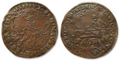 "World Coins - AE jeton 1583 Spanish Netherlands, Bruges: ""the French Fury"", failed attack of Duke of Anjou on Antwerp"