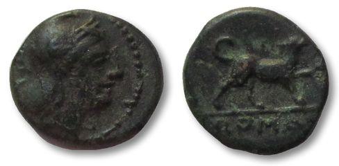 Ancient Coins - HS: Roman Republic AE Half-litra, Rome 234-231 B.C. --DOG walking right--