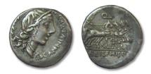 Ancient Coins - AR denarius C. Annius T.f. T.n. Luscus with L. Fabius L.f. Hispaniensis, North Italy/Spain  82-81 B.C.