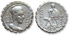 Ancient Coins - AR denarius Mn. Aquilius Mn.f. Mn.n., Rome 71 B.C.