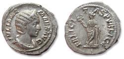 Ancient Coins - AR denarius Julia Mamaea - very high quality coin - Rome 222-235 A.D. - FELICITAS PVBLICA -